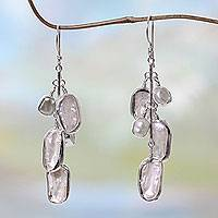 Cultured pearl dangle earrings, 'Java Romance'