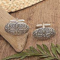 Sterling silver cufflinks Balinese Blossom (Indonesia)