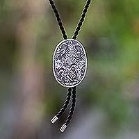 Sterling silver string tie,