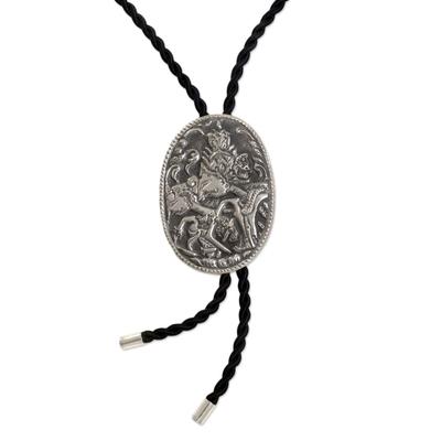 Sterling silver string tie