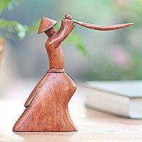 Wood sculpture Samurai Strategy Indonesia