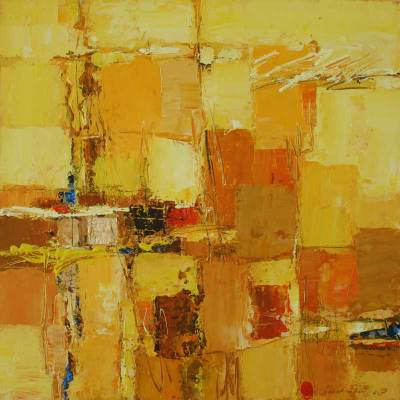 'Prosperity II' - Abstract Painting on Canvas