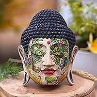 Wood mask, 'Buddha in Nature' - Wood mask