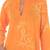 Cotton caftan, 'Orange Dragonfly Mysteries' - Women's Batik Cotton Caftan (image 2c) thumbail