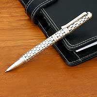 Sterling silver pen, 'New Classic' - Sterling silver pen
