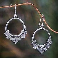 Sterling silver dangle earrings, 'Life Cycles' - Sterling silver dangle earrings