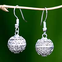 Sterling silver dangle earrings, 'Melodious' - Indonesian Sterling Silver Dangle Earrings