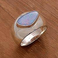 Men's opal ring, 'Loyal Love'