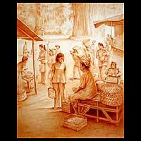 'Market II' (2007) - Indonesian Realist Painting