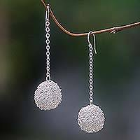 Dangle earrings, 'Bubbles' - Dangle earrings