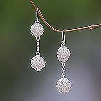 Dangle earrings, 'Topiary' - Dangle earrings