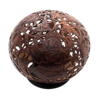 Artisan Crafted Hinduism Coconut Shell Sculpture