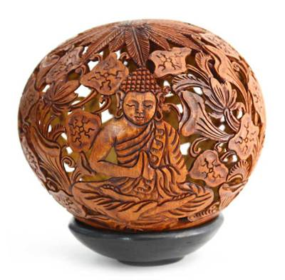 Coconut Shell Sculpture from Indonesia