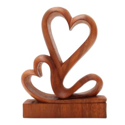 Carved Wood Romantic Sculpture