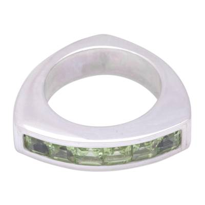 Fair Trade Sterling Silver and Peridot Ring