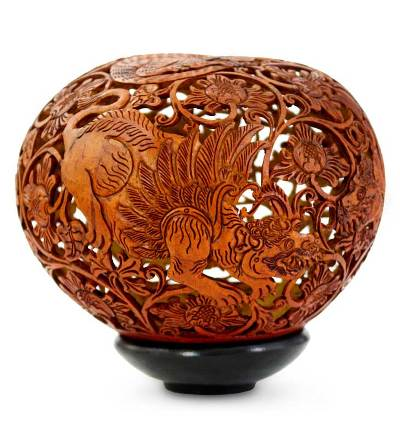 Fair Trade Coconut Shell Sculpture