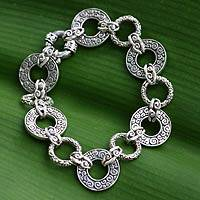 Featured review for Sterling silver link bracelet, Unity Embrace (7.25 inch)