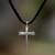 Men's sterling silver cross necklace, 'Holy Sacrifice' - Men's Sterling Silver Cross Necklace  thumbail