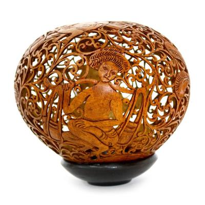 Fair Trade Cultural Coconut Shell Sculpture