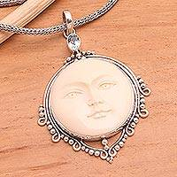 Blue topaz necklace,