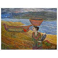 'Balinese Woman' (2008) - Indonesian Oil Painting