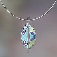 Sterling silver pendant necklace, 'Sexy Half Moons' - Fair Trade Indonesian Modern Pendant Necklace