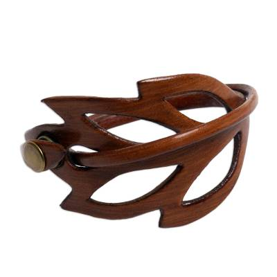Brown Leather Wristband Bracelet