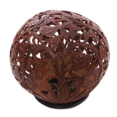 Coconut Shell Sculpture with Stand