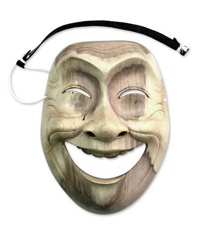 Modern Handmade Wood Mask