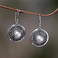 Pearl dangle earrings, Moon Radiance