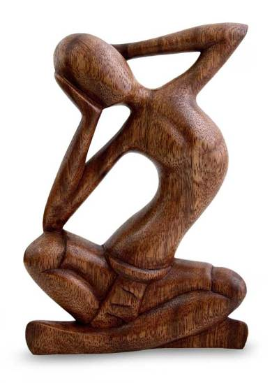 Thought and Meditation Wood Sculpture
