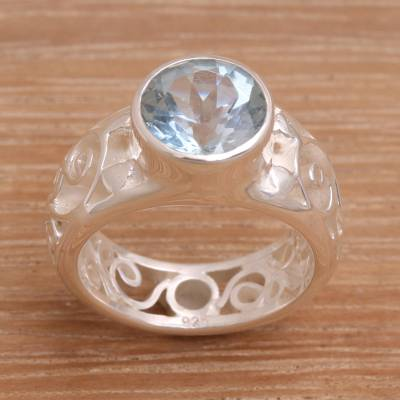 castlevania sotn silver ring restaurant - Sterling Silver and Blue Topaz Ring