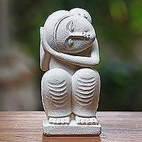 Sandstone sculpture, 'Daydreamer' - Sandstone sculpture