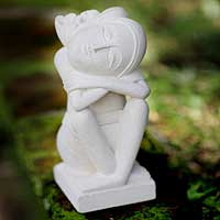 Sandstone sculpture, 'Inspiration' - Sandstone sculpture