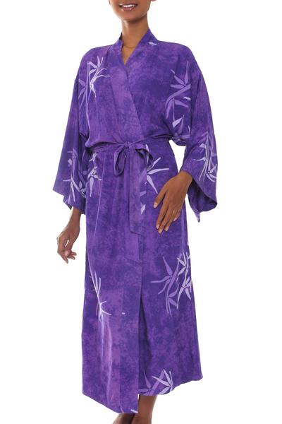 Handmade Purple Batik Robe