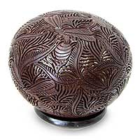 Coconut shell sculpture, 'Bumble Bee' - Indonesian Coconut Shell Sculpture
