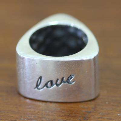silver ring chain cleaner brush - Inspirational Sterling Silver Band Ring