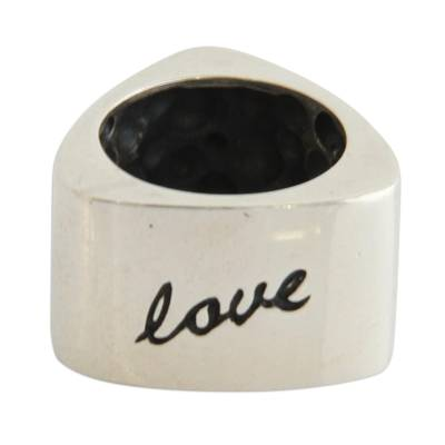 Inspirational Sterling Silver Band Ring