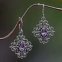 Amethyst Flower Earrings Radiant Blossom (indonesia)