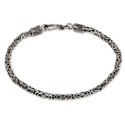 Hand Made Sterling Silver Chain Bracelet
