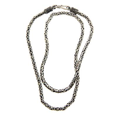 Hand Made Sterling Silver Chain Necklace