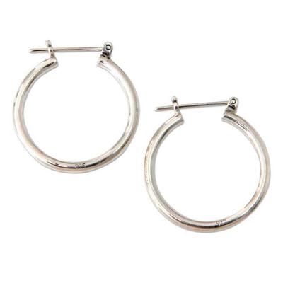 Sterling Silver Hoop Earrings (Medium)