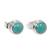 Sterling silver stud earrings, 'Blue Moons' - Silver and Reconstituted Turquoise Stud Earrings (image 2f) thumbail