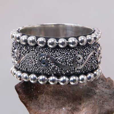 tiffany silver chain ring wholesale - Hand Made Sterling Silver Band Ring