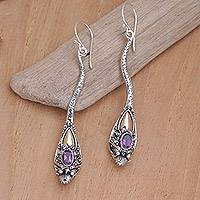 Featured review for Gold accent amethyst earrings, Dragon Queen