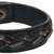 Men's distressed leather bracelet, 'Java Journeys' - Men's Unique Leather Wristband Bracelet (image 2d) thumbail
