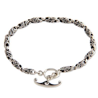 Hand Crafted Sterling Silver Link Bracelet