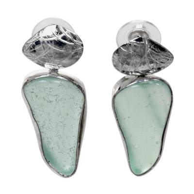 Handcrafted Sea Glass Dangle Earrings