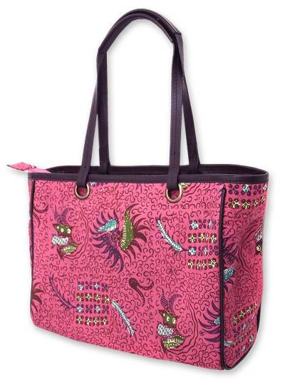 Cotton batik tote bag