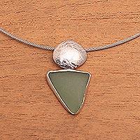 Sterling silver choker, 'Ocean Gift'